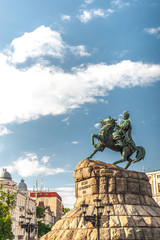 Historic monument to Hetman Bogdan Khmelnitsky on Sofia square i