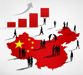 Chinese Business Growth With People