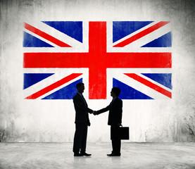 Businessmen Shaking Hands in United Kingdom