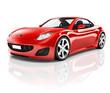Red 3D Sport Car - 62762819