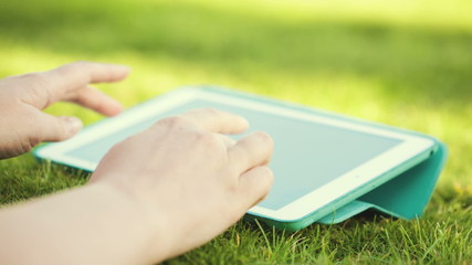 Using touchpad outdoor