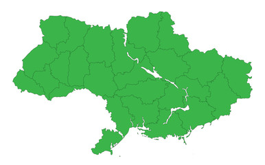contour map of Ukraine without the Crimea