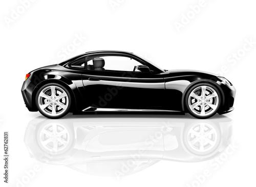 3D Black Sports Car - 62762831