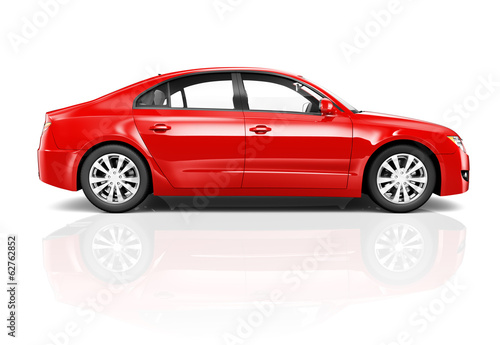 Red Luxury 3D Car