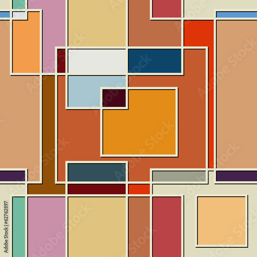 Tuinposter Kunstmatig Seamless color texture of square elements