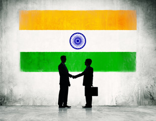 Businessmen Shaking Hands in India
