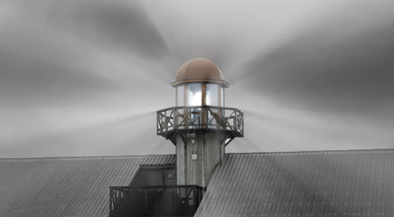 lighthouse and light