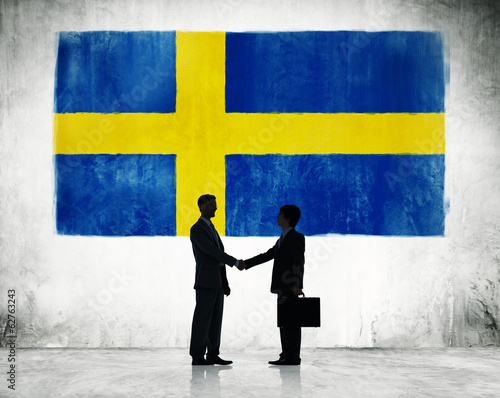Businessmen Shaking Hands in Sweden