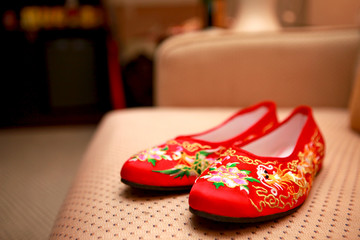Chinese bridal shoes