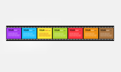 Film strip design text box vector