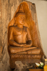 Buddha made of Teak in thailand
