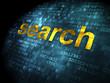 SEO web development concept: Search on digital background