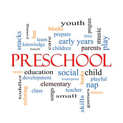 Preschool Word Cloud Concept