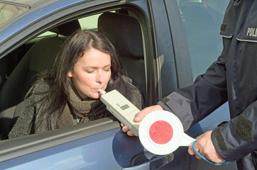 examination of sobriety by a policeman