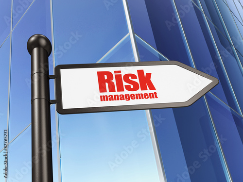 Finance concept: sign Risk Management on Building background