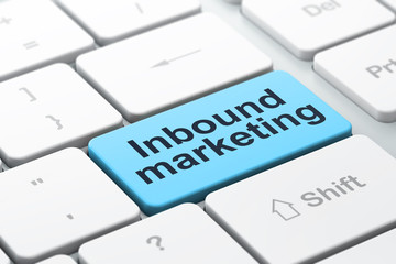 Business concept: Inbound Marketing on computer keyboard