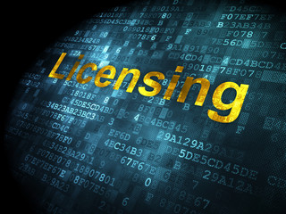 Law concept: Licensing on digital background
