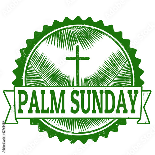 Palm sunday stamp