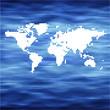 world Ocean vector map concept