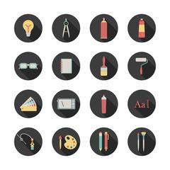 round graphic design icons