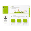 Modern green eco website