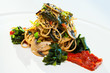 Organic spaghetti with seaweed.