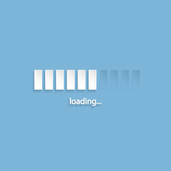 Flat loading screen design