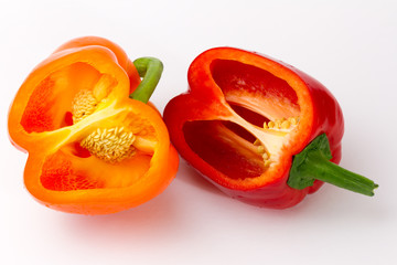 Two opened peppers
