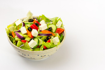 Fresh vegetable spring salad