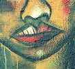 Fototapete Nase - Afro - Graffiti