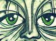 Fototapete Blick - Nase - Graffiti