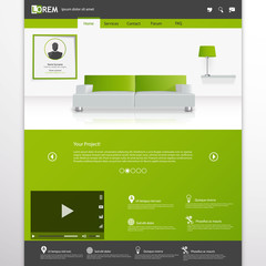 Business website template, Clean Minimalist Style