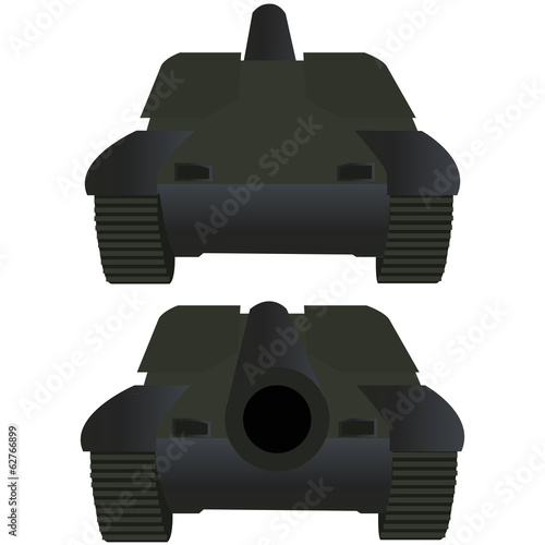 Tank front and back view