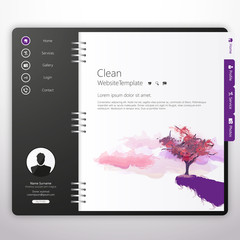 Purple Notepad Website Template