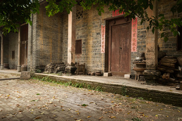 The Chinese traditional building, old village in Guangxi