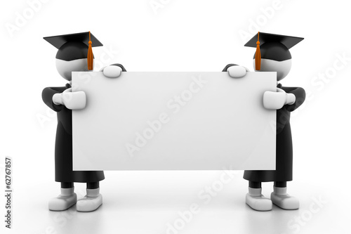 Graduation Students Holding a Blank board