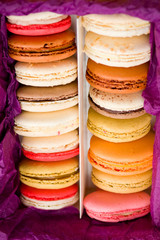 Macarons in box