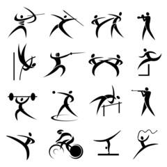Summer sport games icons set