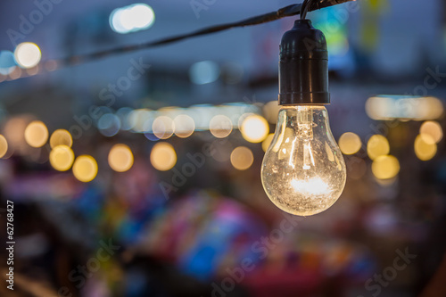 Tungsten lamp with a bokeh