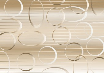 Pattern of circles and ovals.