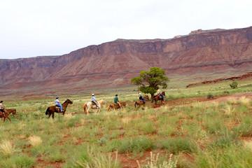 balade à cheval dans l'Utah