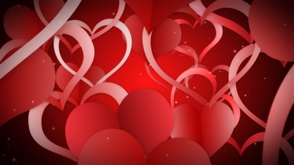 фон с красными сердцами