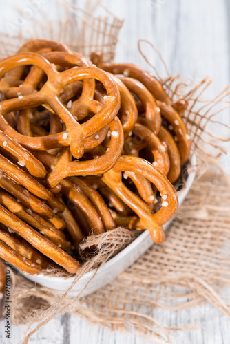 Small Pretzels in a bowl