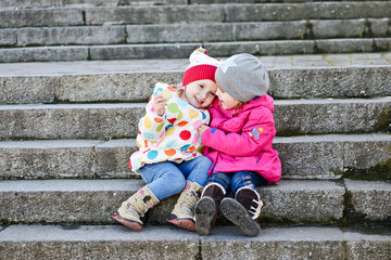 two toddler friends
