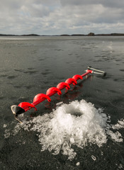 Ice drill and fragile ice