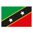 St.Kitts und Nevis Flagge Icon Button