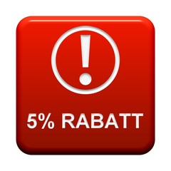 Roter Button: 5% Rabatt