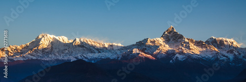 Foto op Plexiglas Nepal Sunrise on Annapurna mountains - Himalaya
