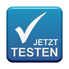 Blauer Button: Jetzt testen
