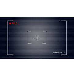 video recording symbol vector